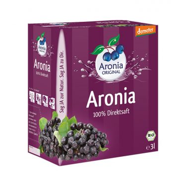 Aronia Demeter Direktsaft 3 Liter Box