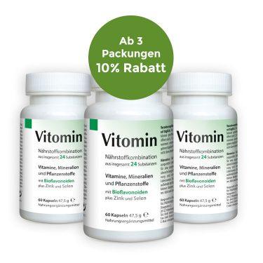 Vitomin Nährstoffkombination 3er Angebot